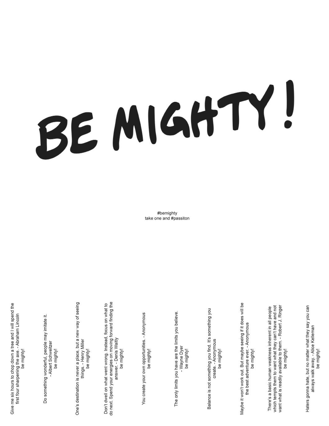 BE MIGHTY Flyer #62