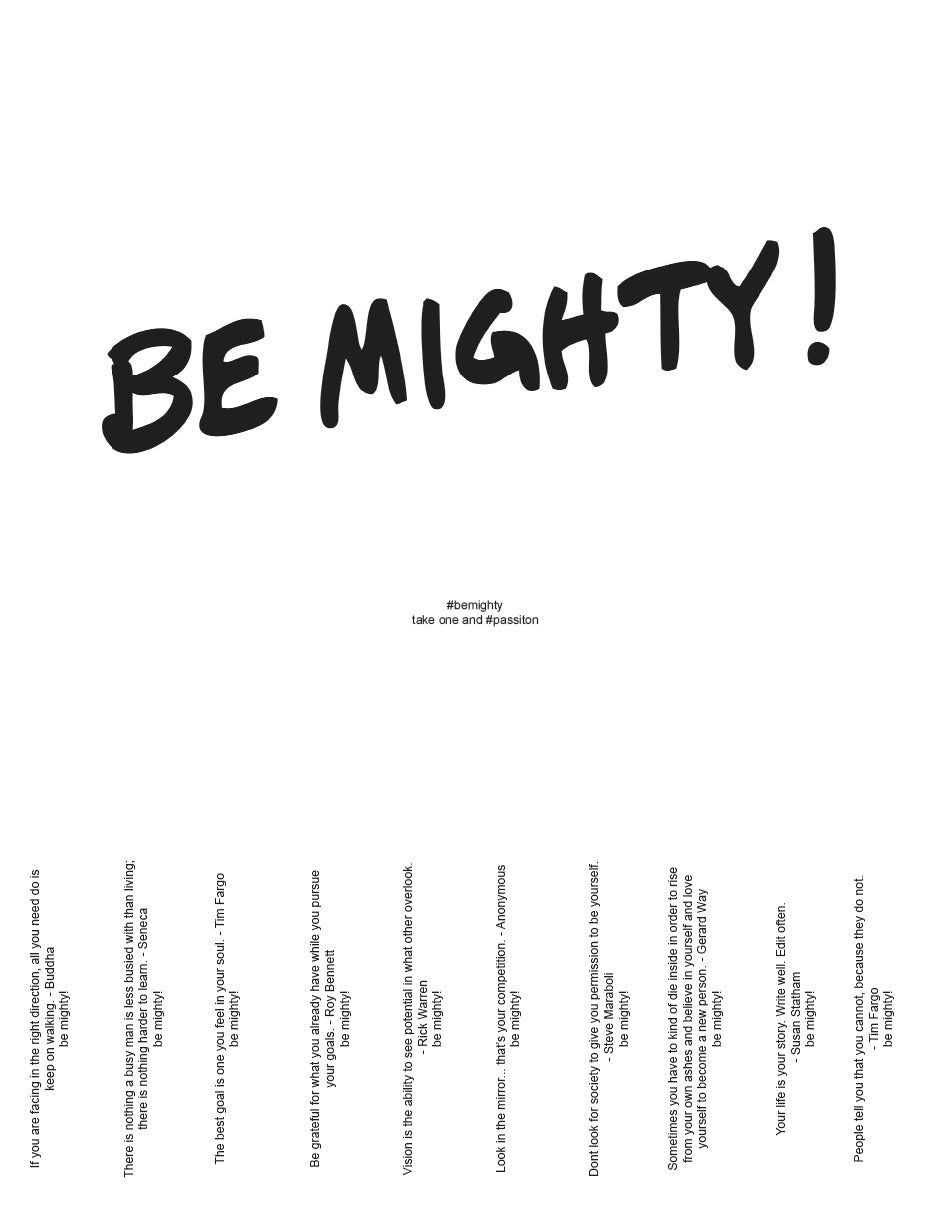BE MIGHTY Flyer #68