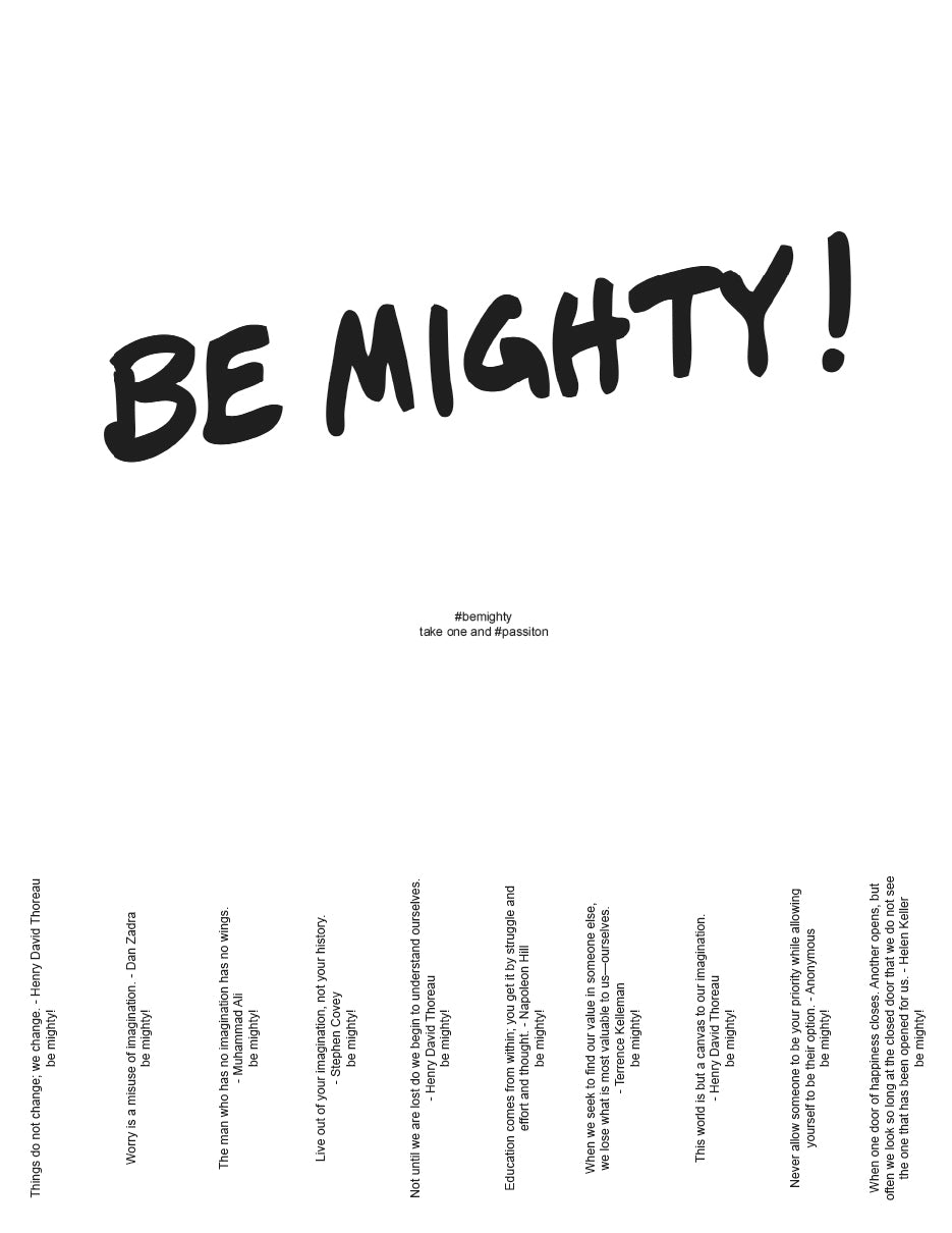 BE MIGHTY Flyer #70