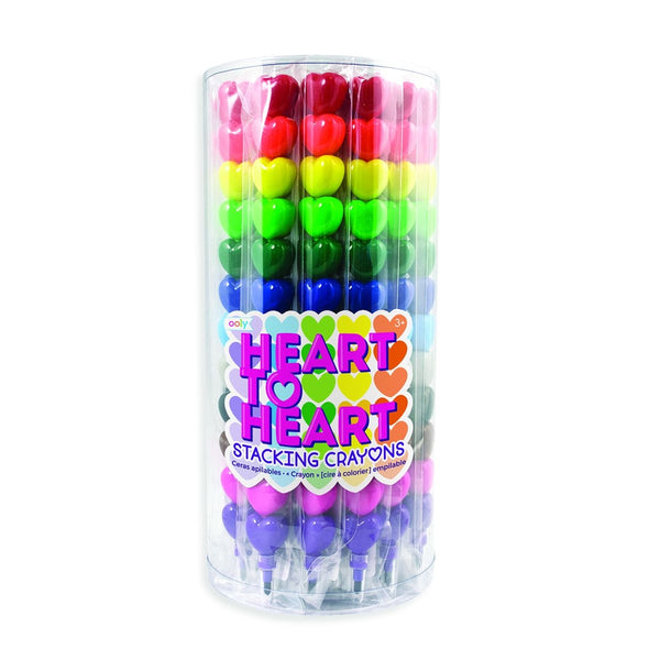 Stacking heart crayons