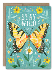 Stay Wild Butterfly Card