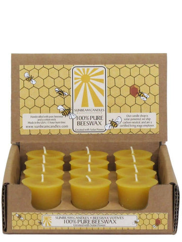 Beeswax Natural Votives