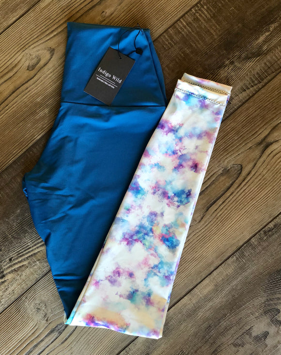 Blue mermaid leggings