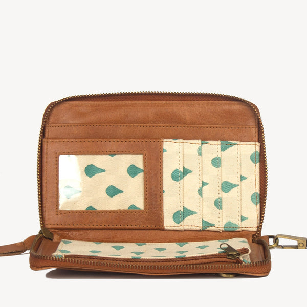 Camel Crossbody Wallet