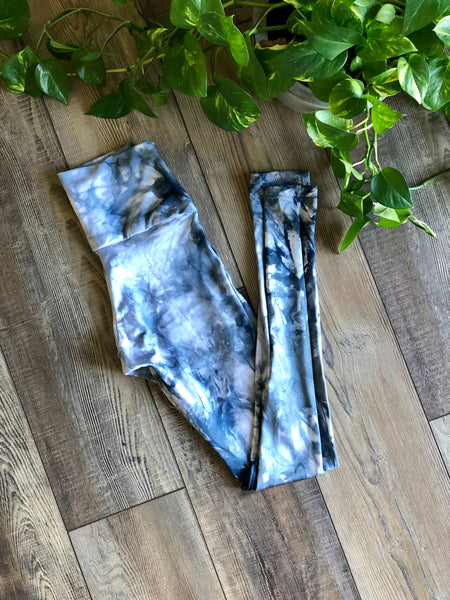 Hand Dyed Active Leggings