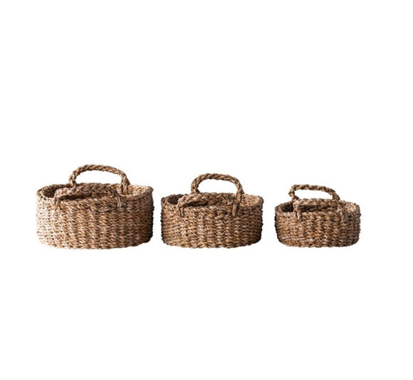 Natural Woven Seagrass Basket Set