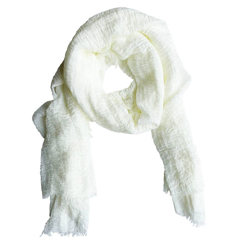 Classic Soft Solid Scarf - White