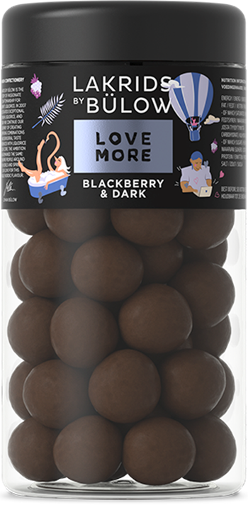 BLACKBERRY & DARK CHOCOLATE COATED LIQUORICE