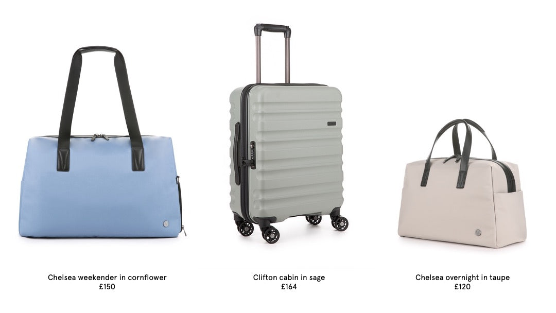 Antler luggage and holdalls for a weekend away