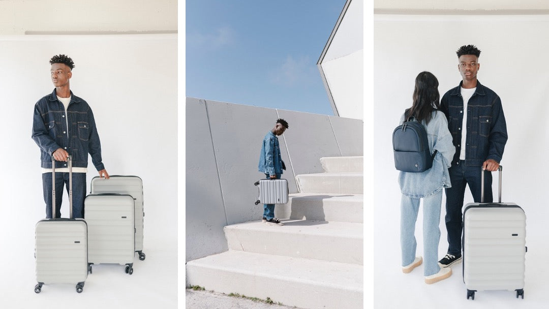 New grey Clifton luggage from Antler