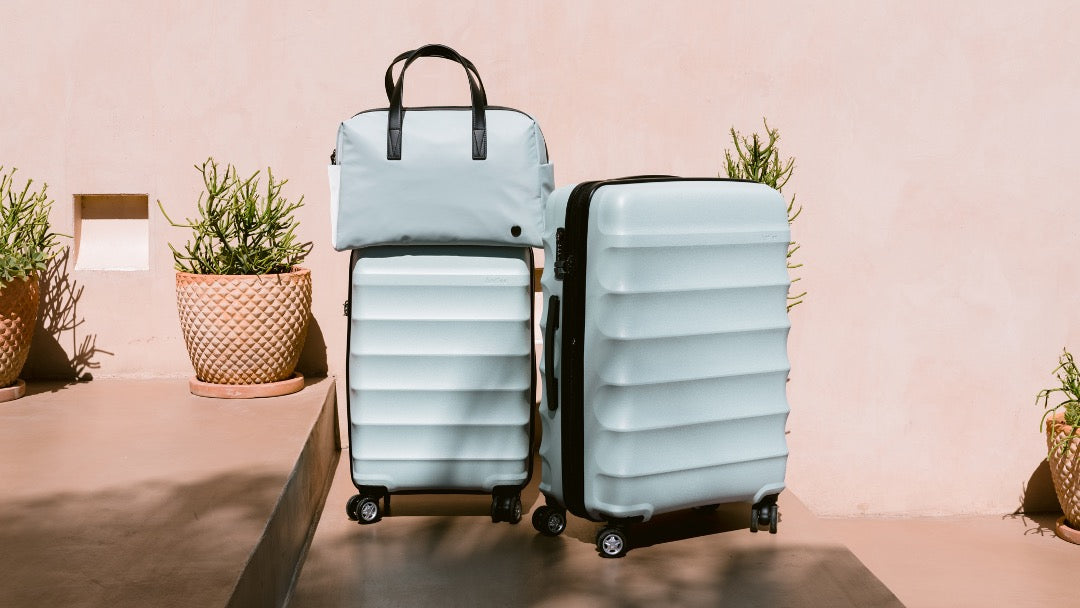 Antler Camber luggage with Chelsea overnight bag in mint