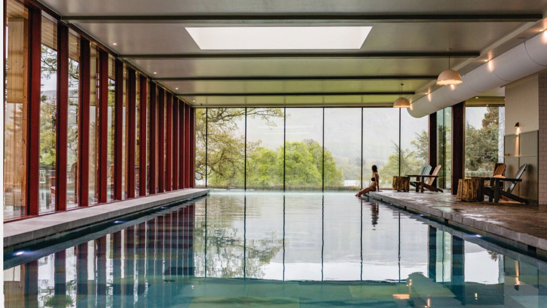 The pool at Another Place hotel, Ullswater, Lake District