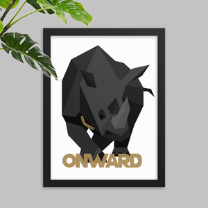 Onward Rhino Poster