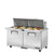 PREP TABLE SANDWICH/SALAD, 2 SOLID DOOR - TSSU-60-24M-B-ST-HC
