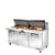 PREP TABLE SANDWICH/SALAD, 3 SOLID DOOR - TSSU-72-30M-B-ST