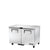 UNDERCOUNTER FREEZER, 2 SOLID DOOR - TUC-48F-HC