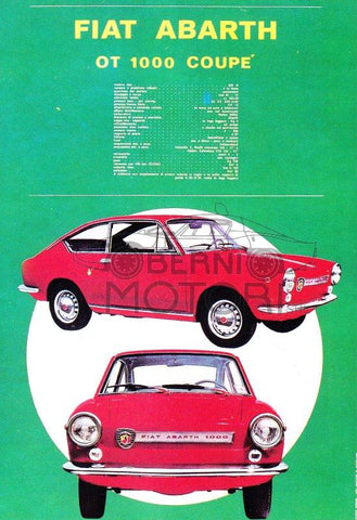 Abarth OT 1000 Coupe Tech Specs Poster