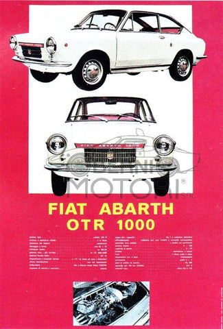 Abarth OTR 1000 Coupe Tech Specs Poster