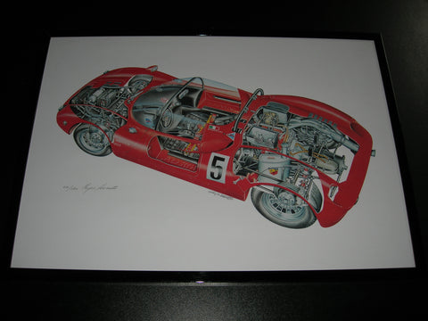 Abarth 1000 SP 'X-Ray' Poster