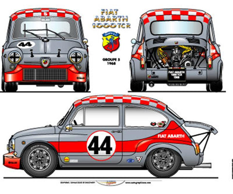 Abarth 1000 TCR Gruppo 5 Poster