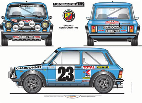 Autobianchi Abarth A112 Group 2 'Montecarlo' Poster