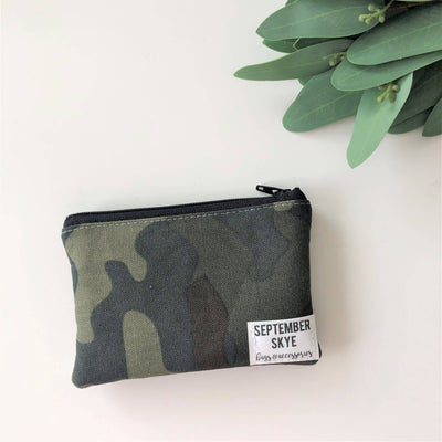 Mini coin purse in camo - Sass Beauty Lashes & Skincare