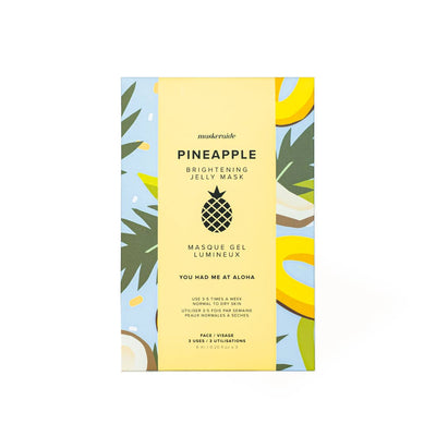 Pineapple Brightening Jelly Mask (3 Uses) - Sass Beauty Lashes & Skincare