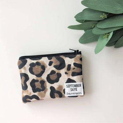 Mini coin purse in leopard - Sass Beauty Lashes & Skincare