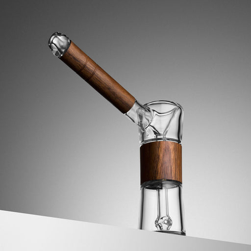 Marley Natural Glass and Walnut Bubbler - The Grown Depot