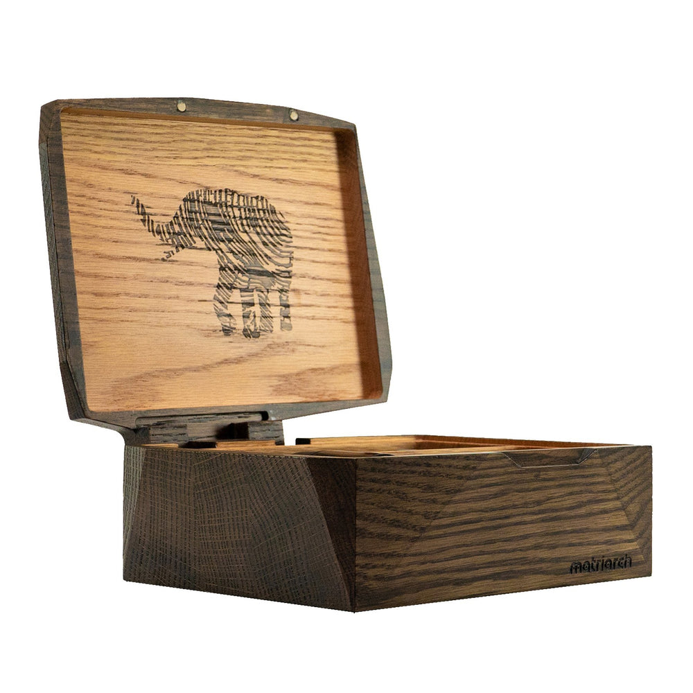 Matriarch Haven | Red Oak Wood Stash Box - The Grown Depot