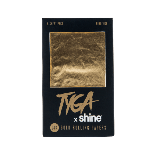 Shine Tyga King Size 24k Gold Papers - 6 Sheets Per Pack (24 Packs)