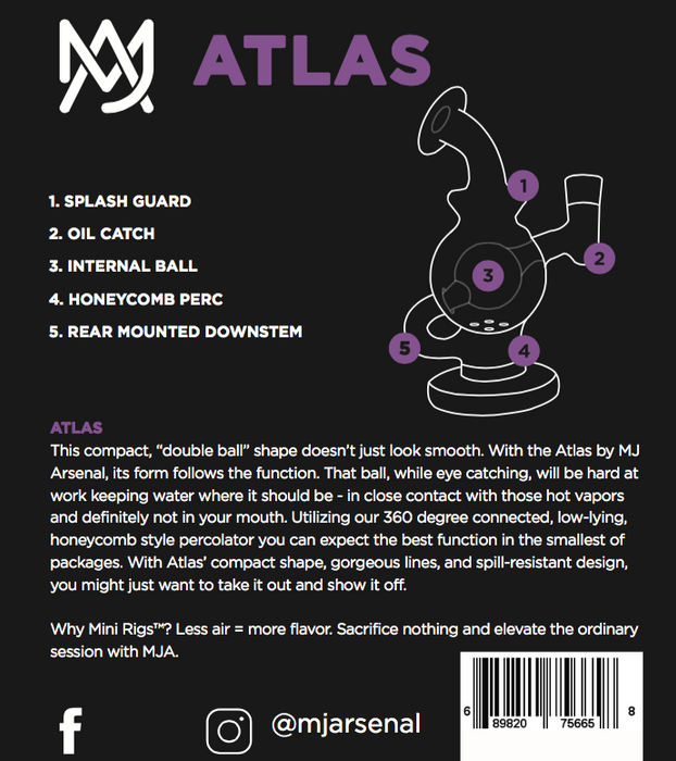 MJA Atlas Mini Rig - The Grown Depot