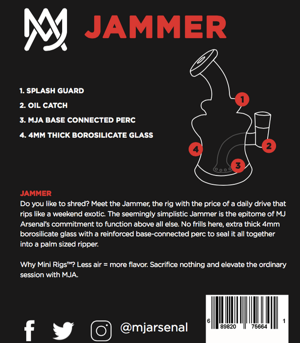 MJA Jammer Mini Rig - The Grown Depot
