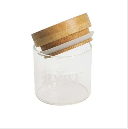 RYOT Glass Jar with Bamboo/ Beech Tray Lid - The Grown Depot