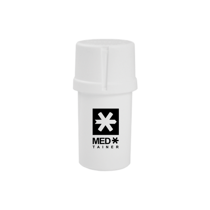 Solid White Medtainer - The Grown Depot