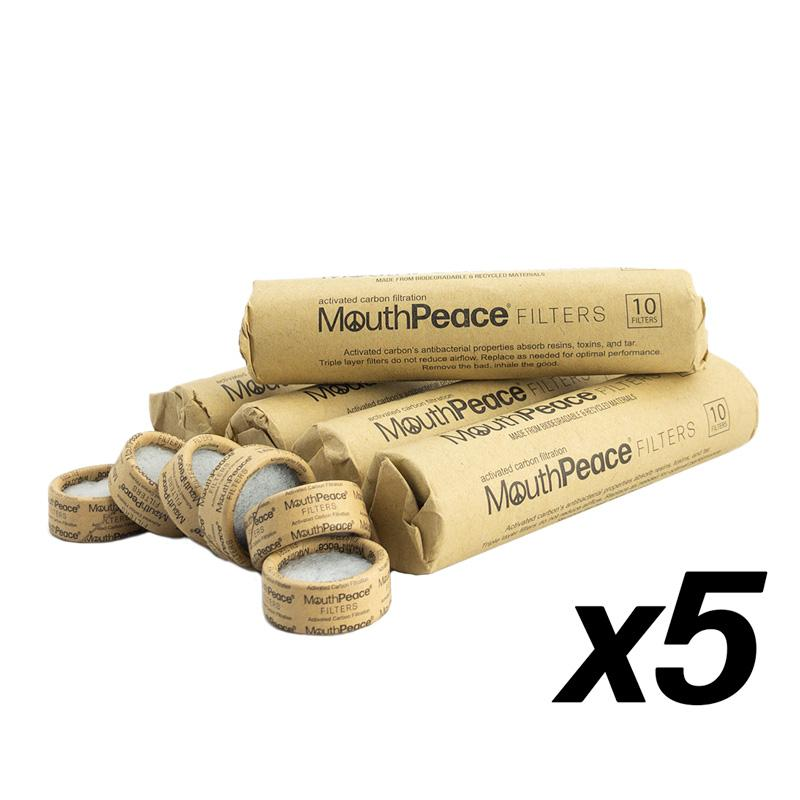 Moose Labs MouthPeace Filter Roll 5 Pack [ 50 Filters ]