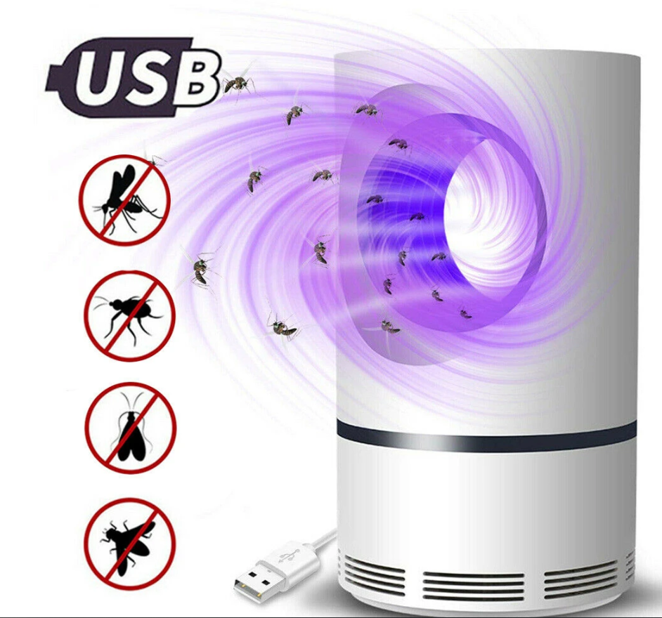 Mosquito Trap USB Electric Photocatalytic Indoor Mosquito Killer LED Light