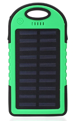 AMPCELL-12 Portable 12000 mAh Waterproof USB Solar Cell Phone Battery Charger with LED Light