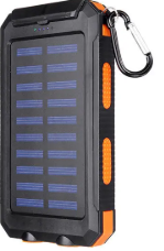 AMPCELL-20 Portable 20000 mAh Waterproof USB Solar Cell Phone Battery Charger with LED Light