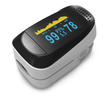 Portable OLED Pulse Oximeter Home Detection Finger Tip Oximeter Sleep Monitoring Heart Rate PI for Adults and Children with SpO2 Pulse Oximeter