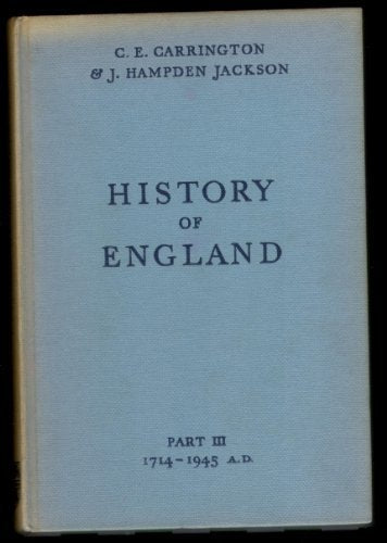 History Of England Part Iii [Unknown Binding]