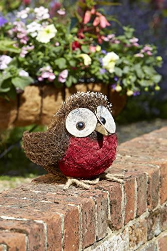 Rocky Robin Garden Ornament. ROCKY! -  Outdoor Decoration - Make into Planter