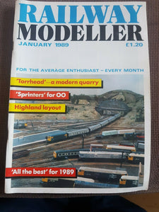 Railway modeller magazine January 1989