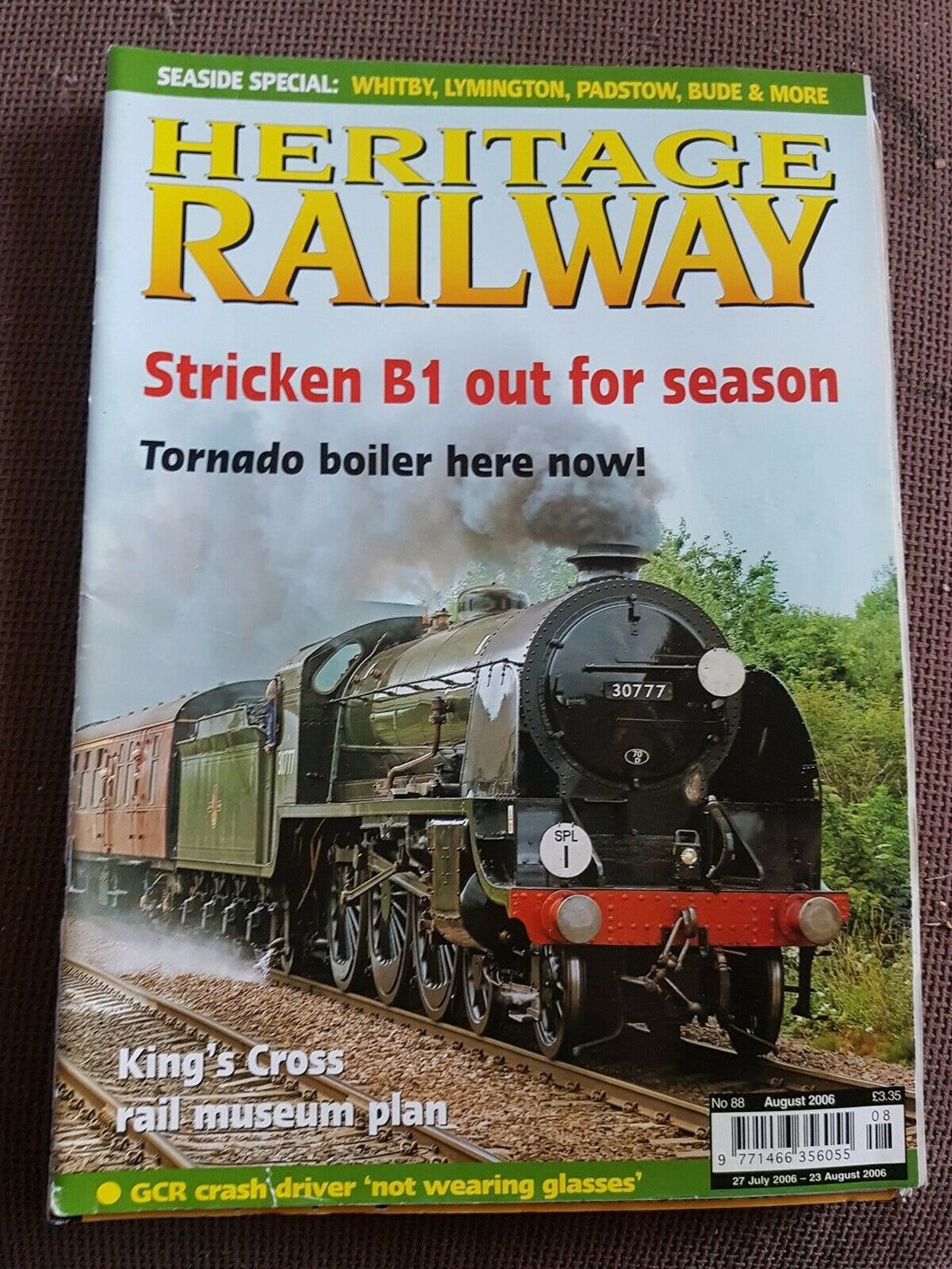 Heritage Railway Magazine No 88 August 2006