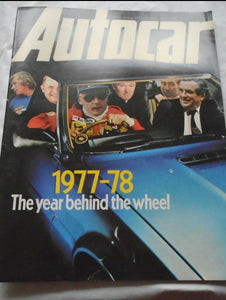 AUTOCAR 31 DECEMBER 1977 - 1977-78 THE YEAR BEHIND THE WHEEL