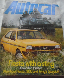 AUTOCAR 24 SEPTEMBER 1977 - FIESTA WITH A STING - ARMY SCORPION