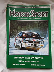Motorsport March 1987 please see second image for contents