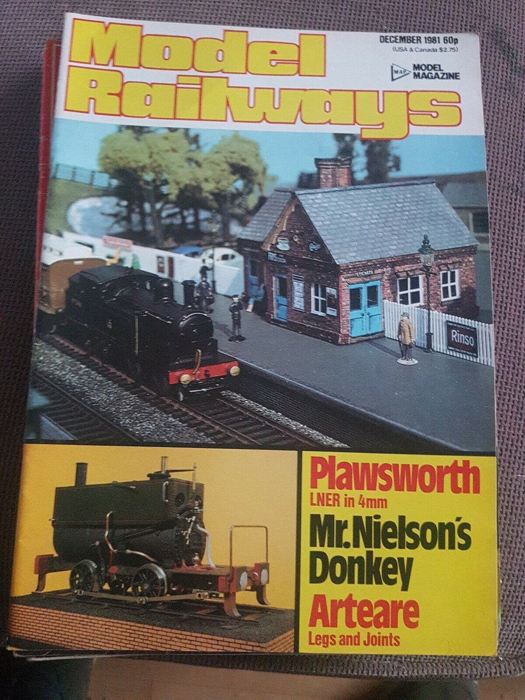 Model Railways Magazine December 1981   VERY GOOD CONDITION.