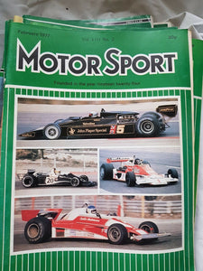 Motorsport February 1977 please see second image for contents