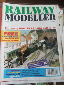 Railway modeller magazine April 2001. Cover has mark and tear.